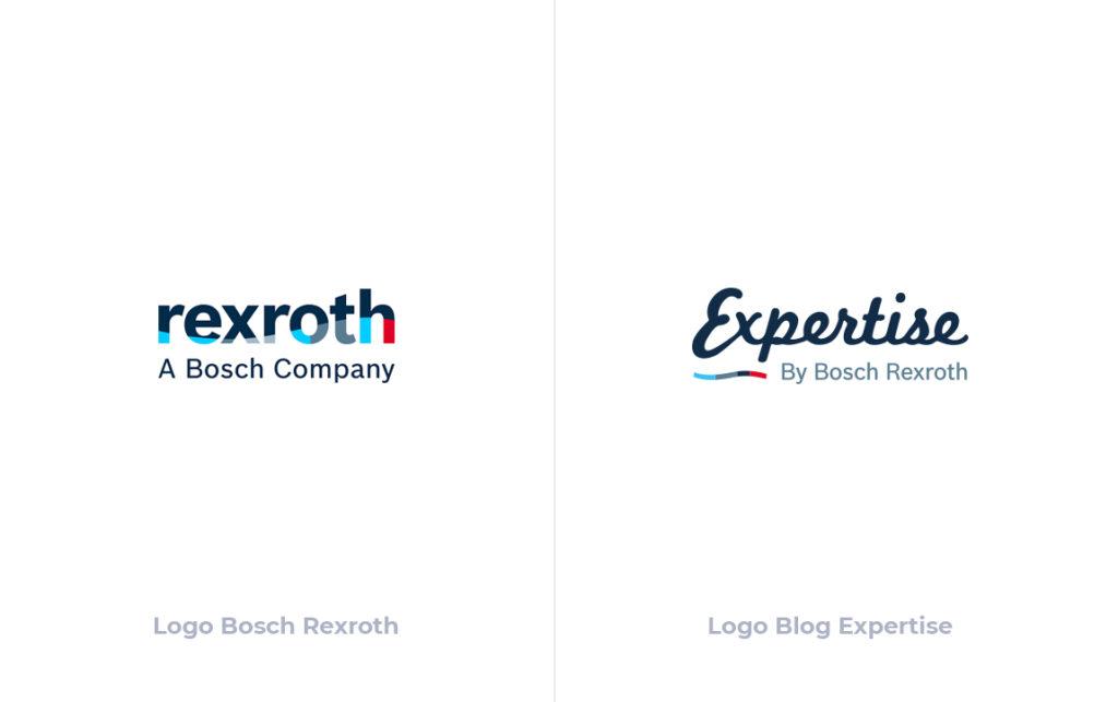 Aperçu des logo Bosch Rexroth et Bosch Expertise