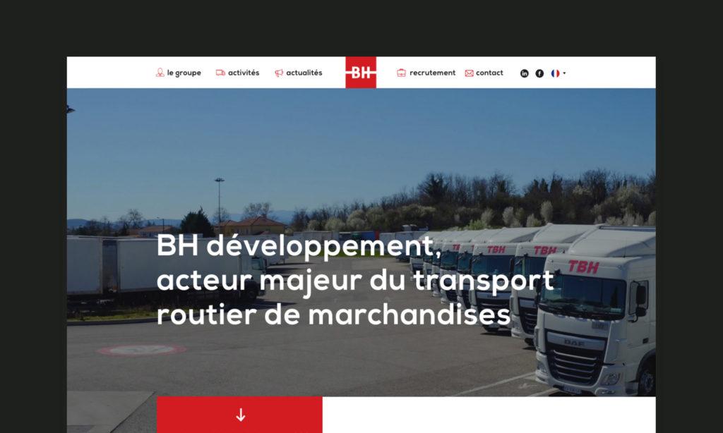 Aperçu du site BH développement