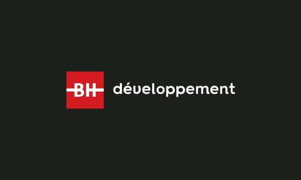 Logo BH développement sur fond noir