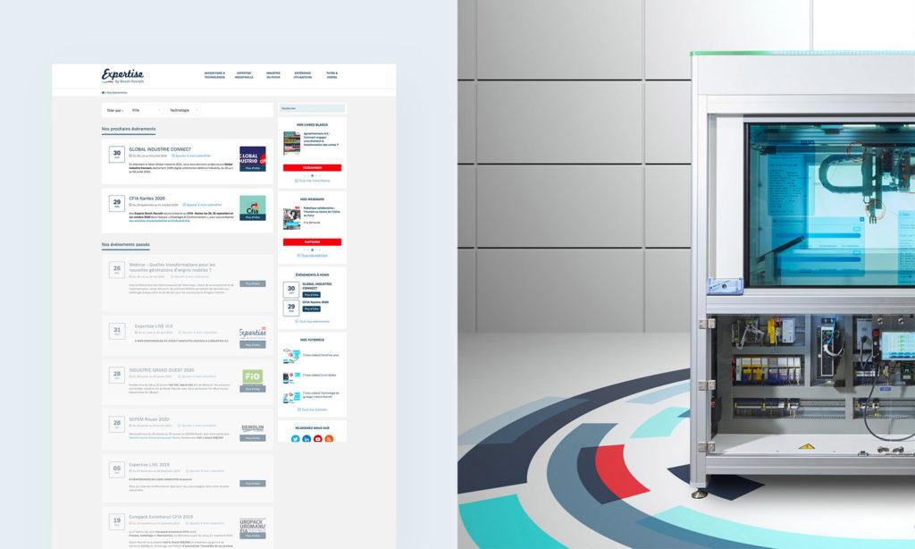 Vue de la page Événéments du site Bosch Expertise