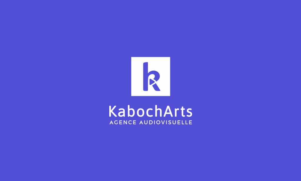 Logo KabochArts blanc sur fond bleu