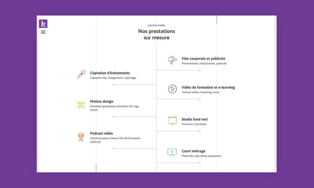 Site - Zoom sur les prestations de KabochArts