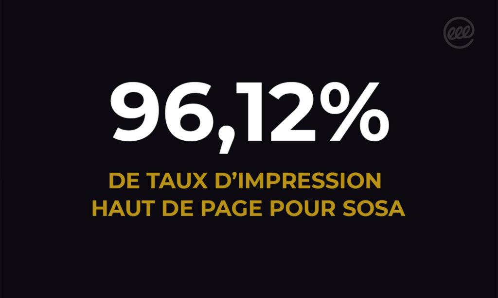 96,12% de taux d'impression haut de page pour SOSA