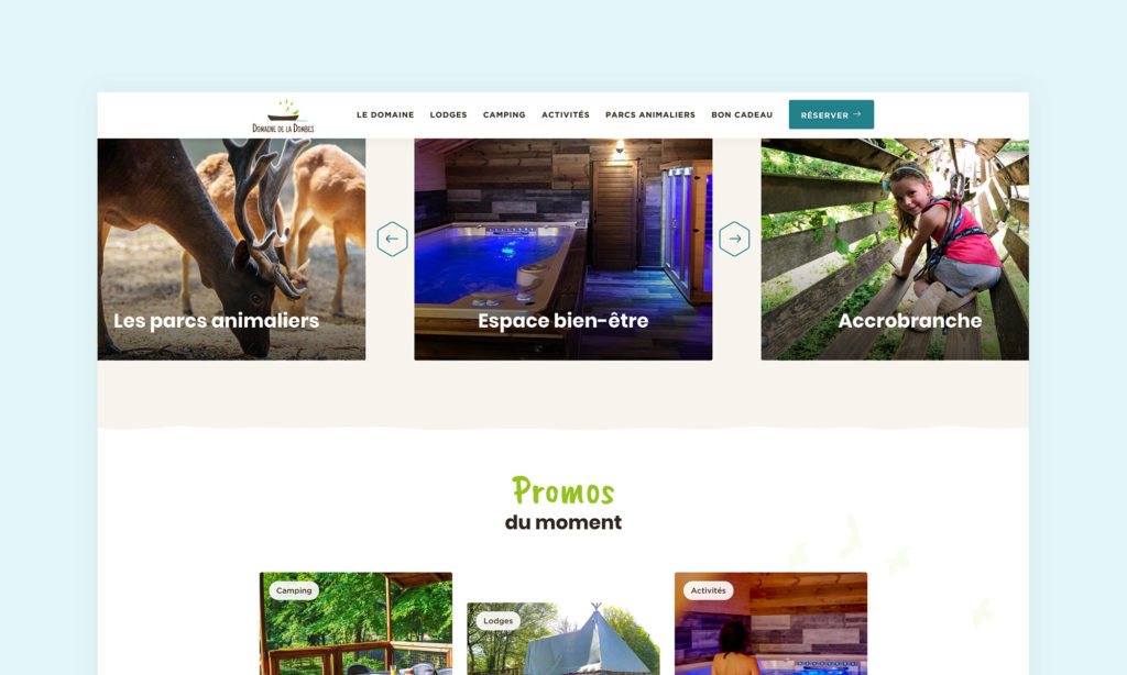 Aperçu du site Domaine de la Dombes