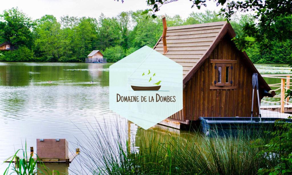 Logo Domaine de la Dombes sur fond photo