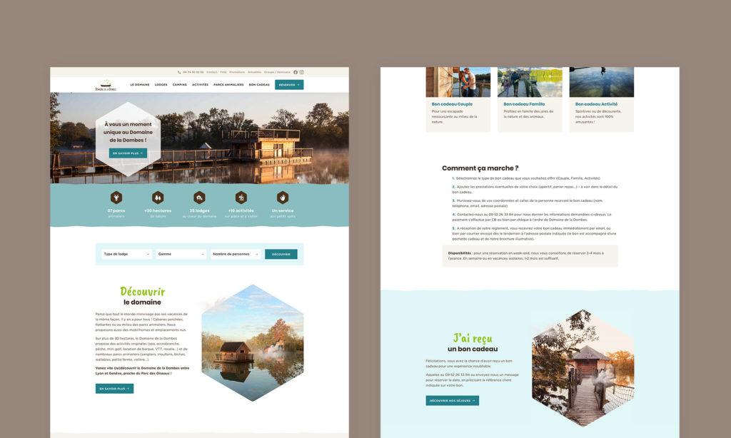Vues du site Domaine de la Dombes