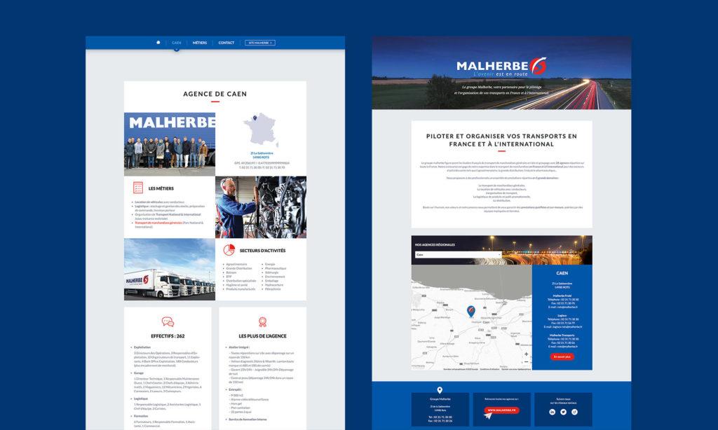 Vues du site Malherbe