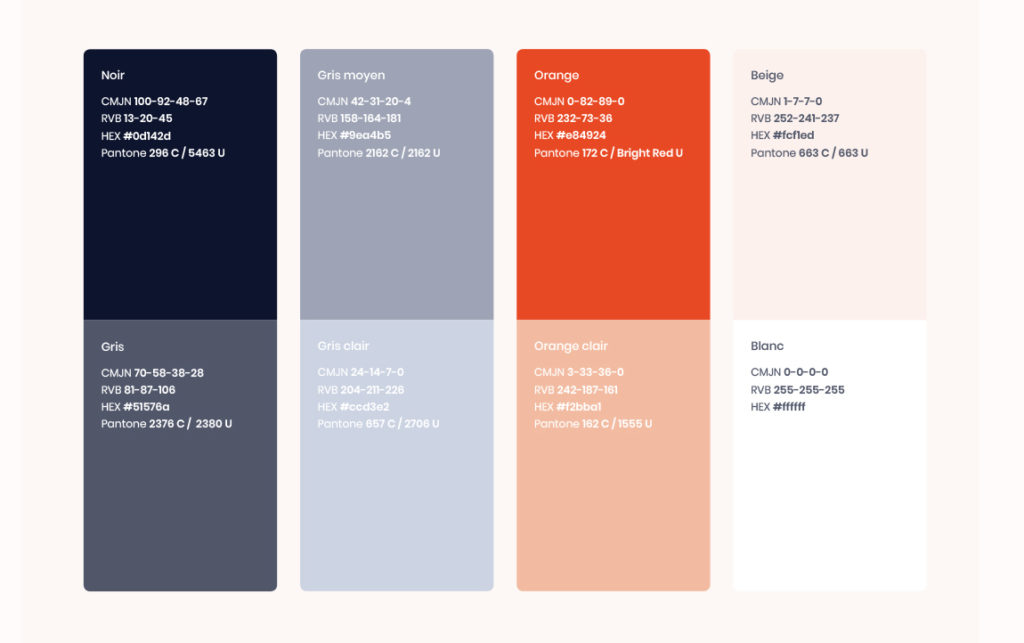 Palette de couleur de Saybus