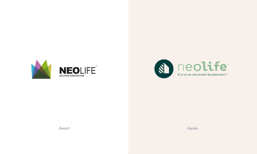 Refonte du logo Neolife - Avant/Après