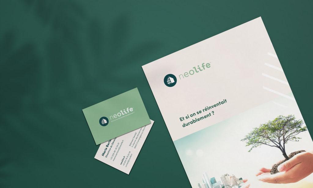 Carte de visite et brochure Neolife